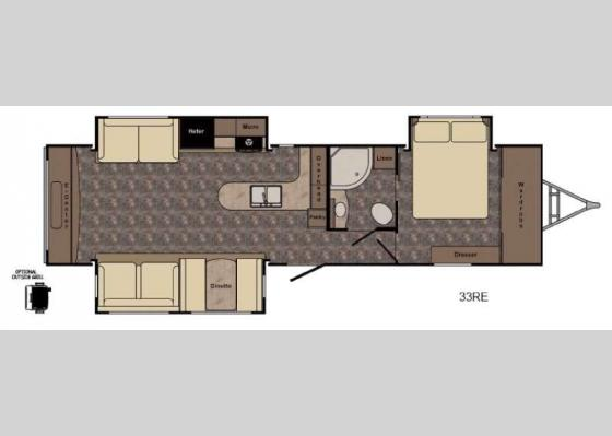 Floorplan - 2017 Hill Country HCT33RE Travel Trailer