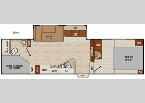 Floorplan - 2017 Chaparral X-Lite 28BHS Fifth Wheel