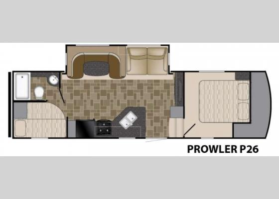 Floorplan - 2017 Prowler P26 Fifth Wheel