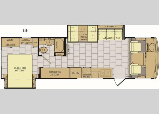 Floorplan - 2017 Flair 31B Motor Home Class A