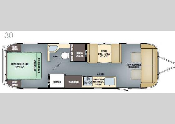 Floorplan - 2017 Classic 30 Travel Trailer