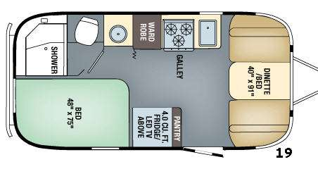 Floorplan - 2017 Flying Cloud 19 Travel Trailer