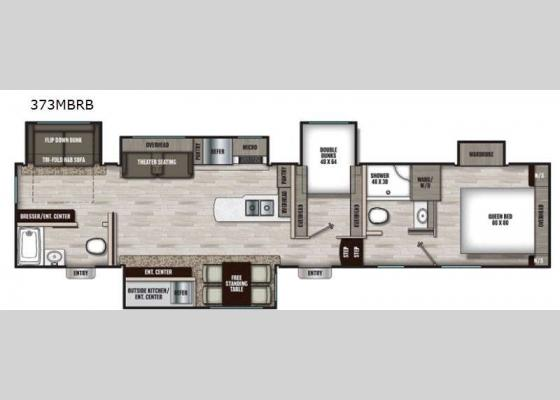 Floorplan - 2021 Chaparral 373MBRB Fifth Wheel