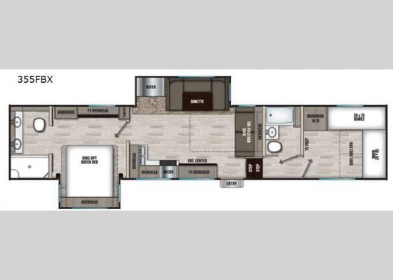 Floorplan - 2021 Chaparral 355FBX Fifth Wheel
