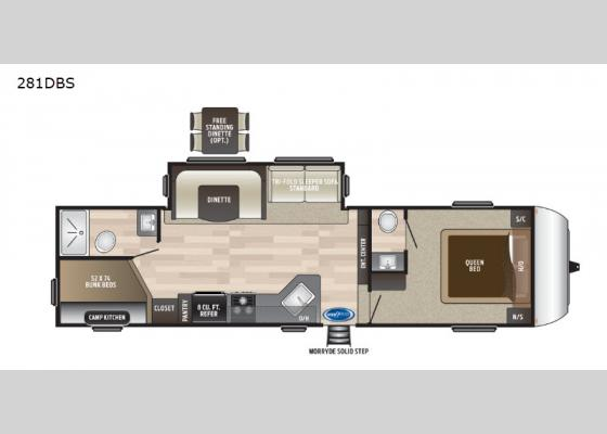 Floorplan - 2019 Hideout 281DBS Fifth Wheel