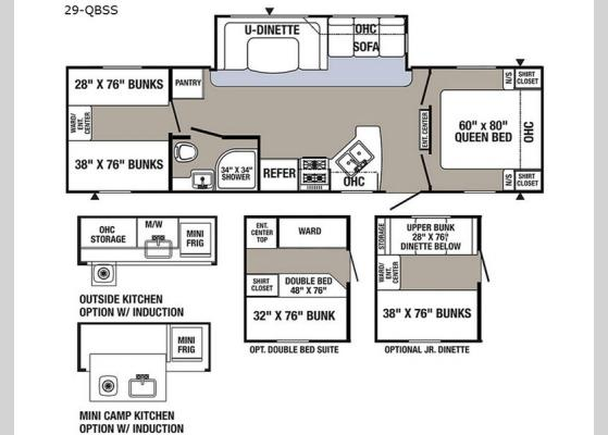 Floorplan - 2018 Puma 29-QBSS Travel Trailer