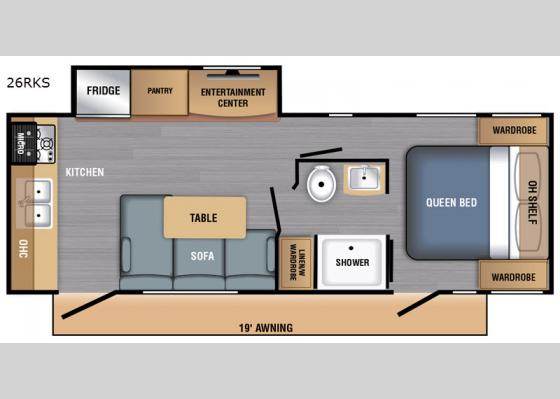 Floorplan - 2020 LX Series 26RKS Travel Trailer