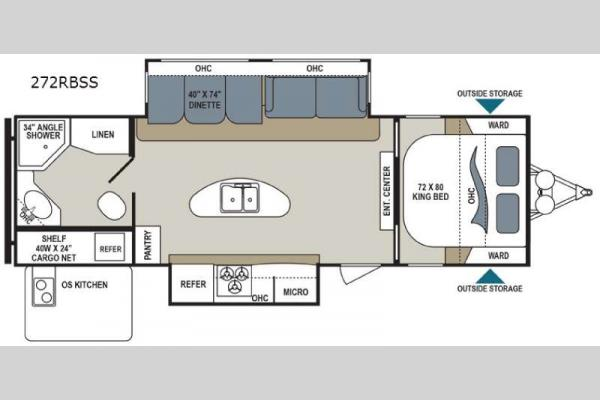 Floorplan - 2017 Dutchmen RV Aerolite 272RBSS