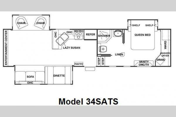 Floorplan - 2009 Forest River RV Cedar Creek 34SATS