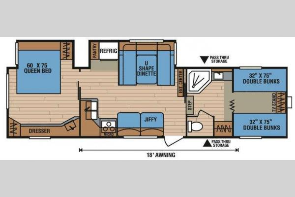 Floorplan - 2009 KZ Spree 305BHS