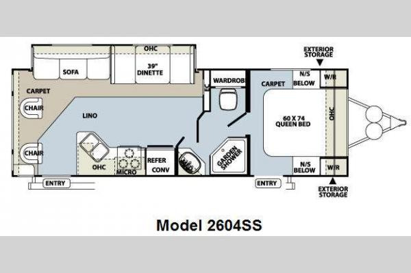 Floorplan - 2010 Forest River RV Rockwood Ultra Lite 2604SS