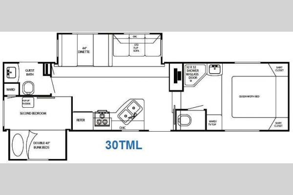 Floorplan - 2011 Gulf Stream RV Trailmaster 30 TML