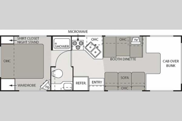 Floorplan - 2006 Thor Four Winds Siesta 28 A