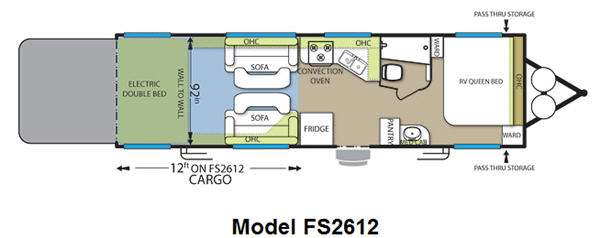 Floorplan - 2012 Forest River RV Stealth Limited Edition FS2612