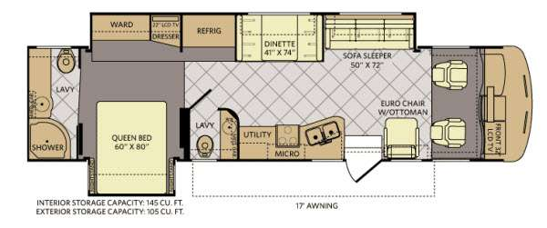 Floorplan - 2012 Fleetwood RV Southwind 36D