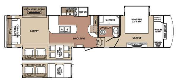 Floorplan - 2013 Forest River RV Blue Ridge 3600RS