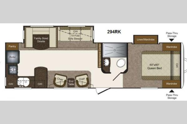 Floorplan - 2013 Keystone RV Laredo Super Lite 294RK