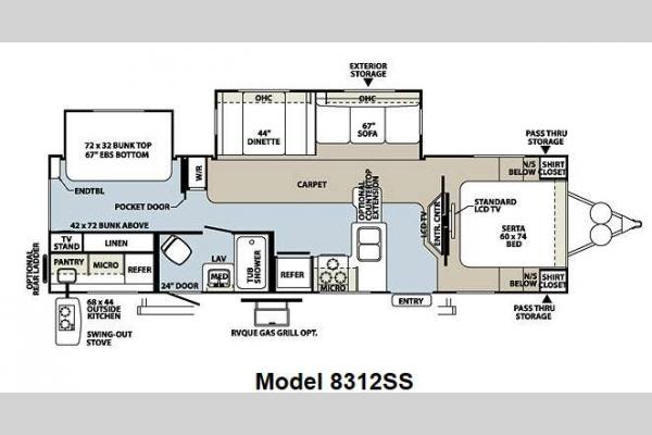 Floorplan - 2013 Forest River RV Rockwood Signature Ultra Lite 8312SS
