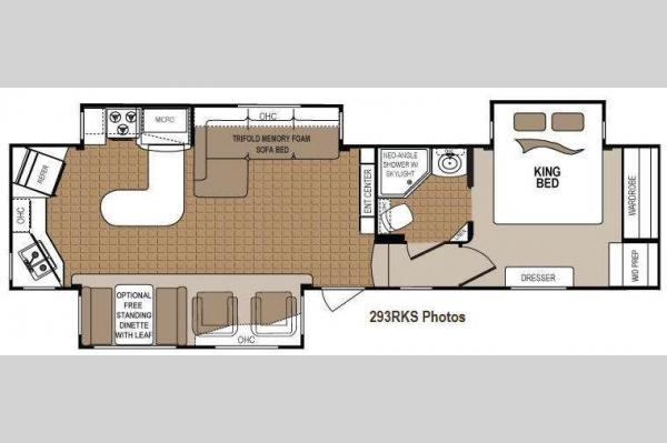 Floorplan - 2013 Dutchmen RV Denali 293RKS