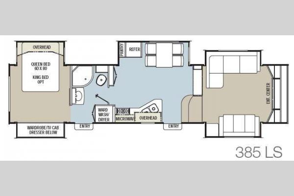 Floorplan - 2013 Coachmen RV Brookstone 385LS