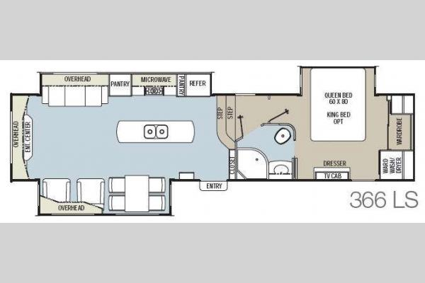 Floorplan - 2014 Coachmen RV Brookstone 366LS