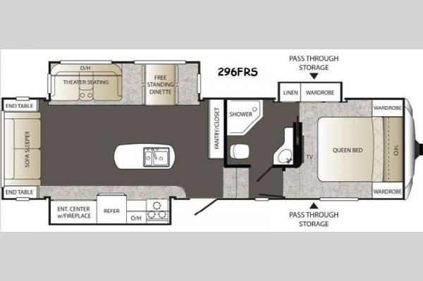 Floorplan - 2015 Keystone RV Outback 296FRS