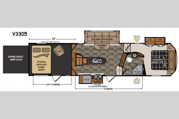 Floorplan - 2015 Dutchmen RV Voltage V-Series V3305