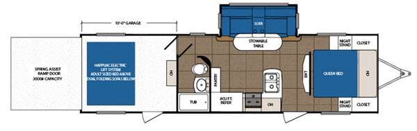 Floorplan - 2015 Prime Time RV Spartan 3010