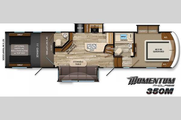 Floorplan - 2015 Grand Design Momentum 350M