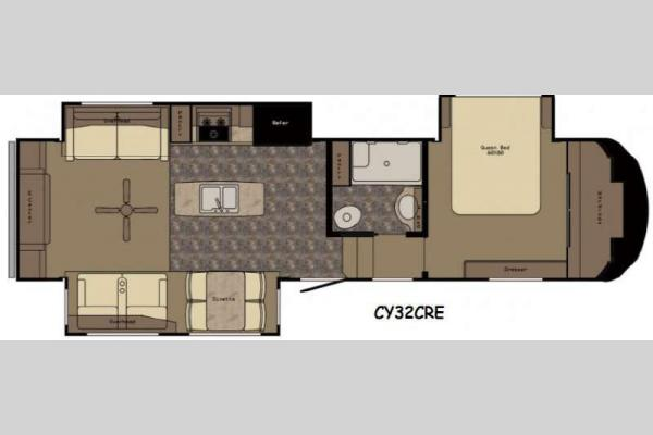 Floorplan - 2016 Redwood RV Cypress CY32CRE