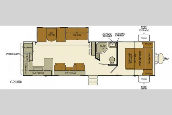 Floorplan - 2017 EverGreen RV i-Go G293RK