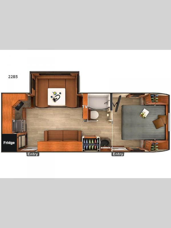 Floorplan - 2017 Lance Travel Trailers 2285