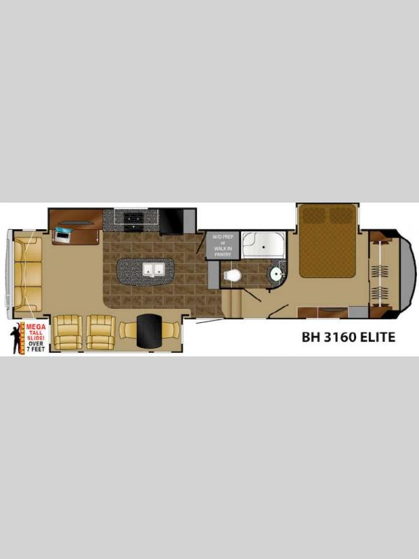 Floorplan - 2016 Heartland Bighorn 3160 Elite