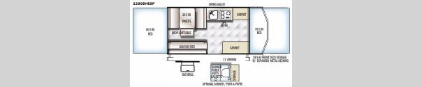 Rockwood Extreme Sports 2280BHESP Floorplan