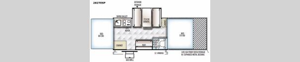 Rockwood Extreme Sports 282TESP Floorplan