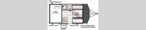 Rockwood Hard Side Series A122BH Floorplan