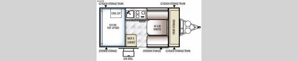 Rockwood Hard Side Series A122S Floorplan