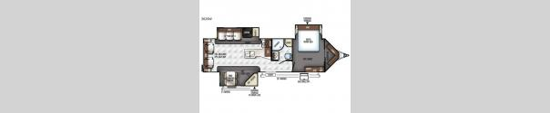 Rockwood Wind Jammer 3029W Floorplan