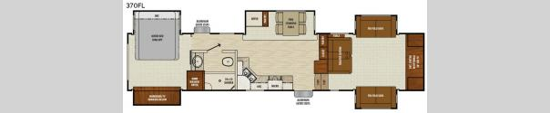 Chaparral 370FL Floorplan