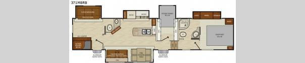 Chaparral 371MBRB Floorplan