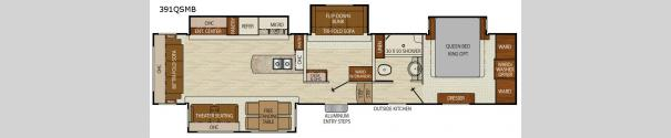 Chaparral 391QSMB Floorplan