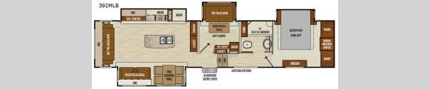 Chaparral 392MBL Floorplan