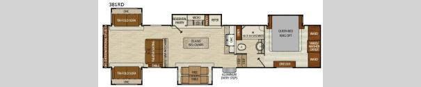 Chaparral 381RD Floorplan