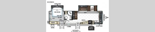 Rockwood Signature Ultra Lite 8335BSS Floorplan
