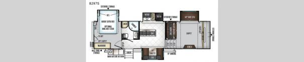 Rockwood Signature Ultra Lite 8297S Floorplan