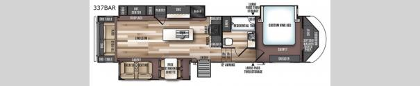 Wildwood Heritage Glen LTZ 337BAR Floorplan