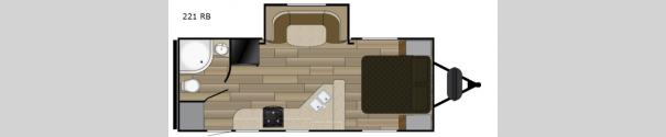 Sundance Ultra Lite 221 RB Floorplan