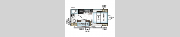 Rockwood Mini Lite 1905BH Floorplan