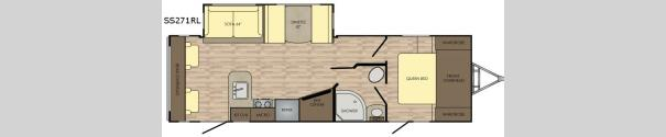 Sunset Trail Super Lite SS271RL Floorplan