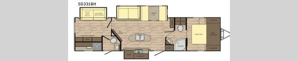 Sunset Trail Super Lite SS331BH Floorplan